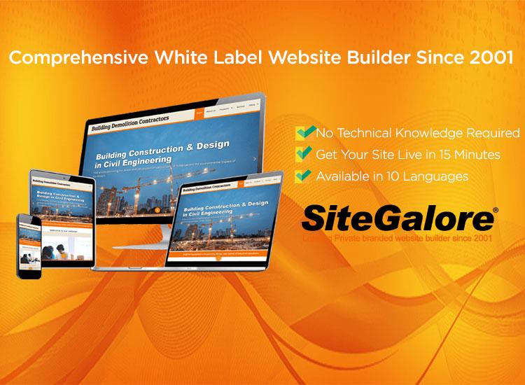 SiteGalore White Label Website Builder Application is now Mobile compatible