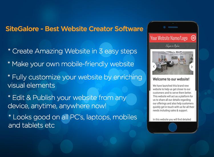 SiteGalore Website Builder Application releases its iOS App