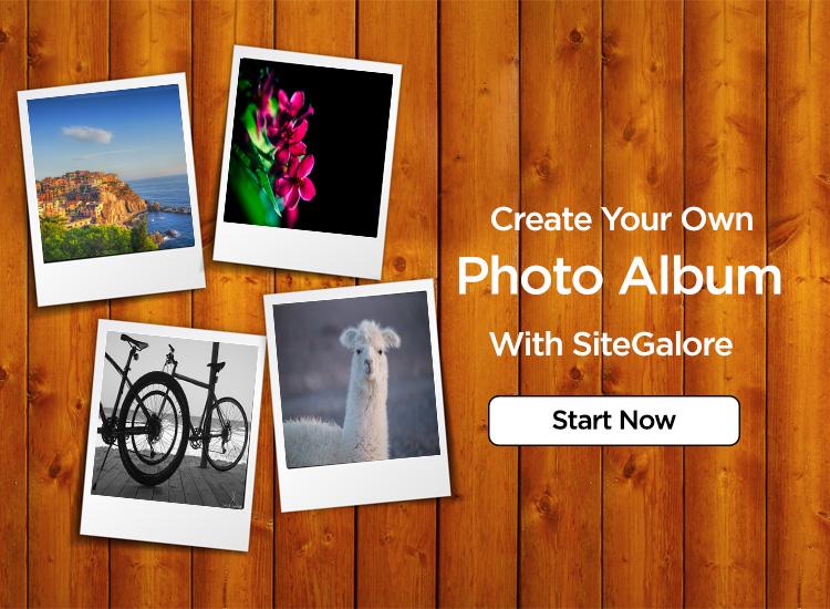 create an photo album page in SiteGalore