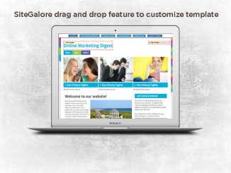 drag and drop feature to customize template