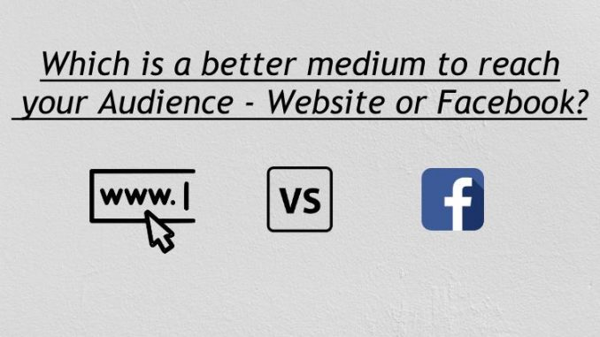 Website or Facebook