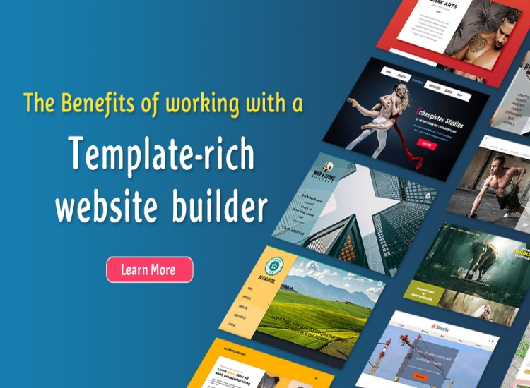 The Benefits of working with a template-rich website builder