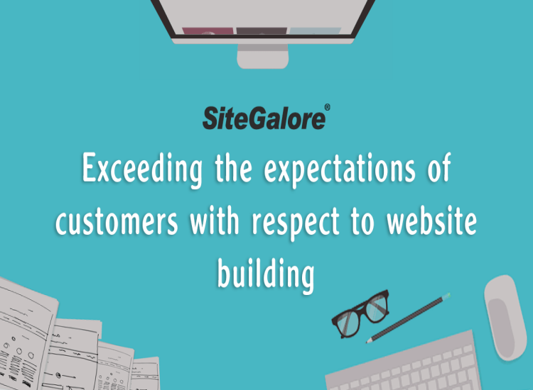 Exceeding the expectations of customers with respect to website building!
