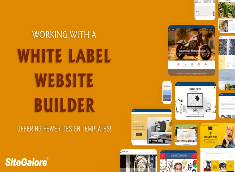 Working with a White Label Website Builder offering fewer design templates!