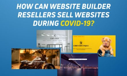 How can website builder resellers sell websites during COVID-19?