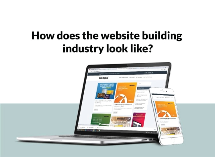 How does the website building industry look like?