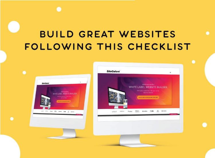 Build great websites following this checklist!
