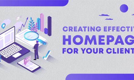 Creating an effective homepage for your clients!